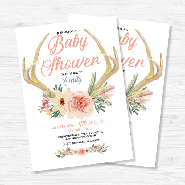 Digital Baby Shower Invitation - Boho - Couture Moments