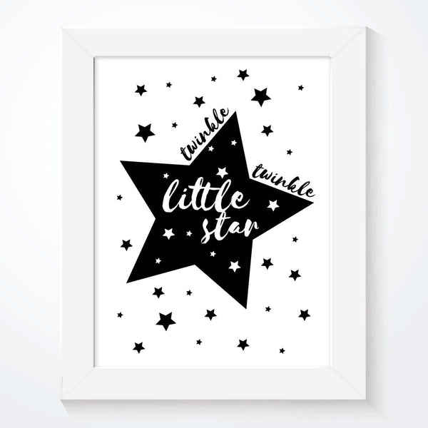 Twinkle Twinkle Little Star Print