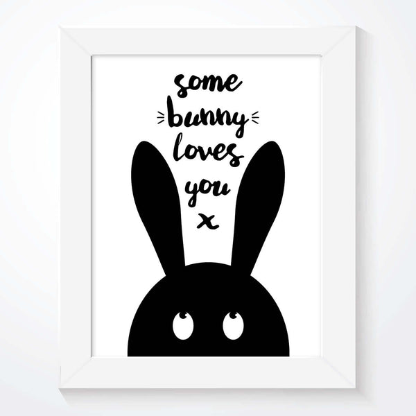 Scandinavian Some Bunny Loves You Kids Print