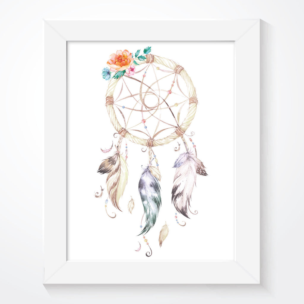 Girls Dream Catcher Print