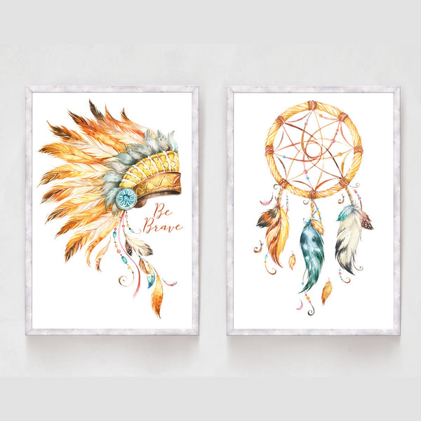 Set of 2 Boys Tribal Prints