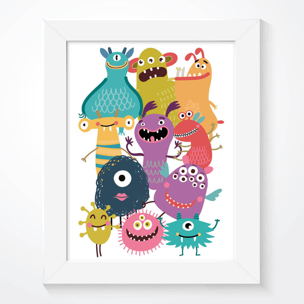 A Collection Of Funny Monsters Boys Bedroom