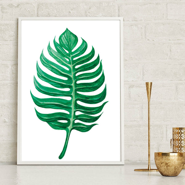 Tropical Leaf Wall Art Print