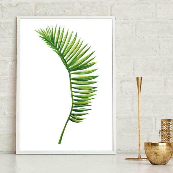 Curved Fern Leaf Tropical Poster