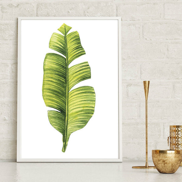 Watercolour Palm Leaf Print