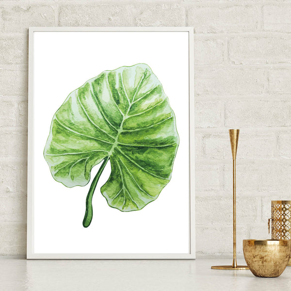Monstera Leaf Tropical Wall Art