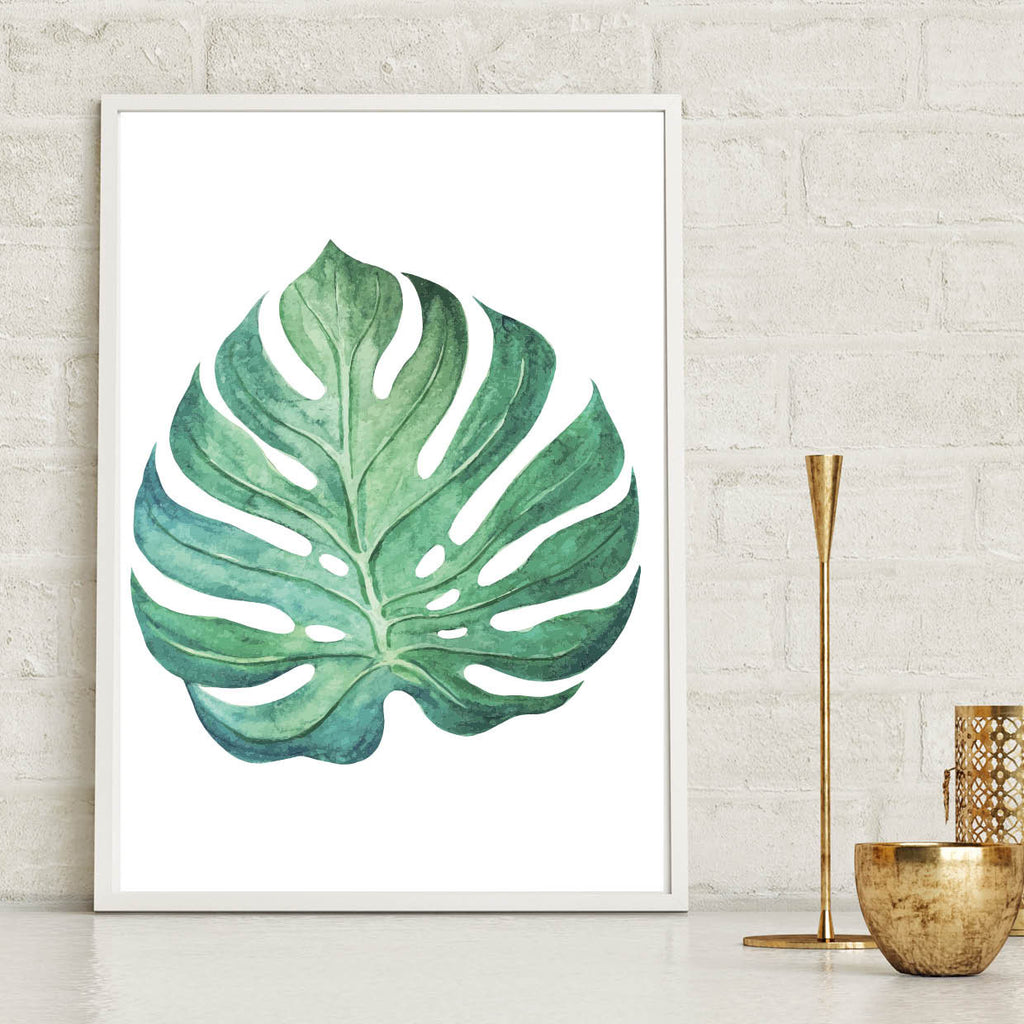 Monstera Leaf Botanical Poster