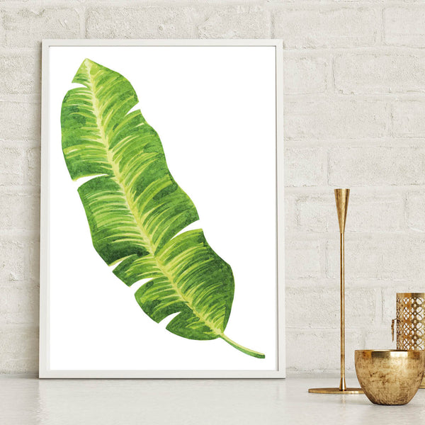 Palm Leaf Botanical Print Watercolour - Couture Moments