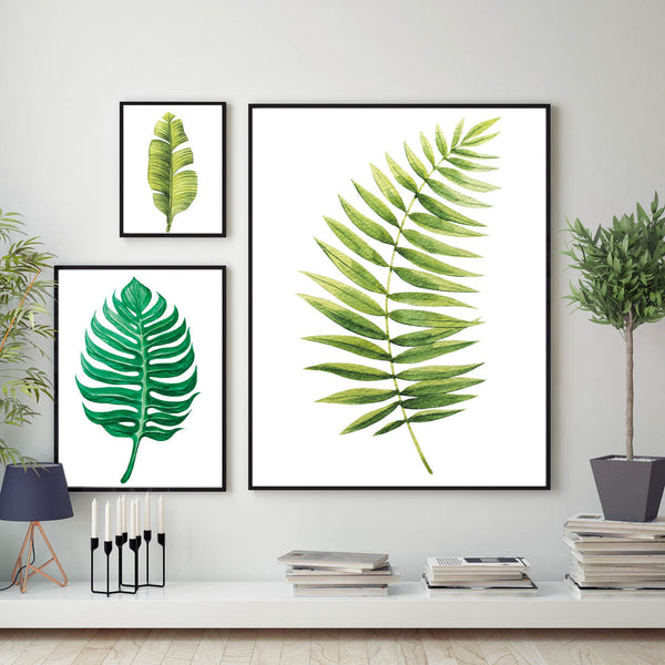 Set of 3 Botanical Leaf Prints