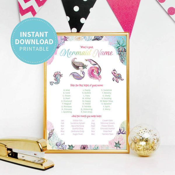 Mermaid Birthday Party Game - Printable