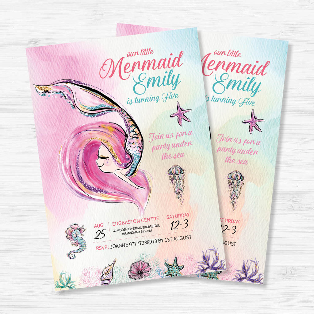 Mermaid Birthday Invitation - Couture Moments