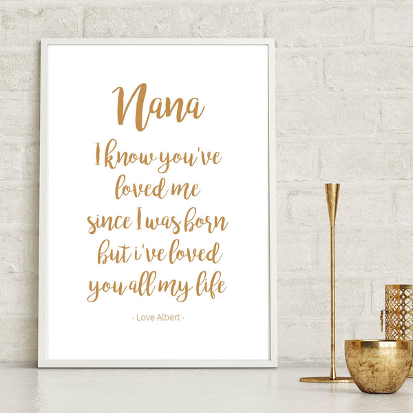 Personalised Nana Grandmother Print - Couture Moments