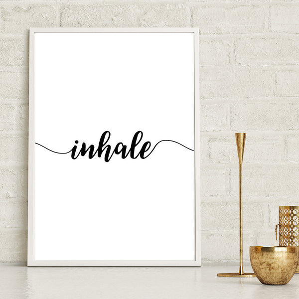 Inhale Yoga Pilates Print