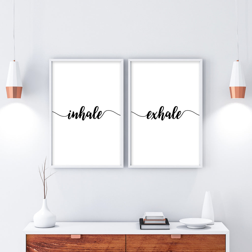 Set of 2 Inhale Exhale Print - Couture Moments