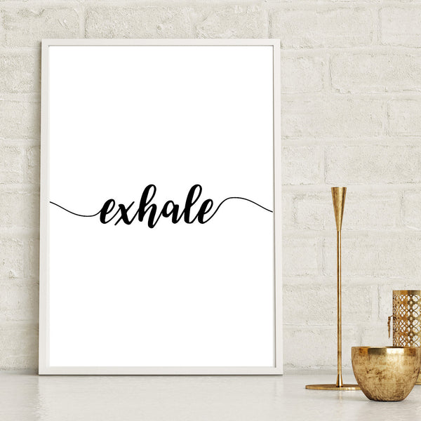 Exhale Yoga Print - Couture Moments