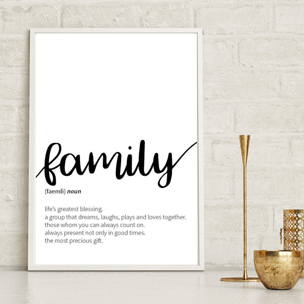 Family Definition Print