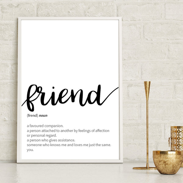 Friend Definition Print - Couture Moments