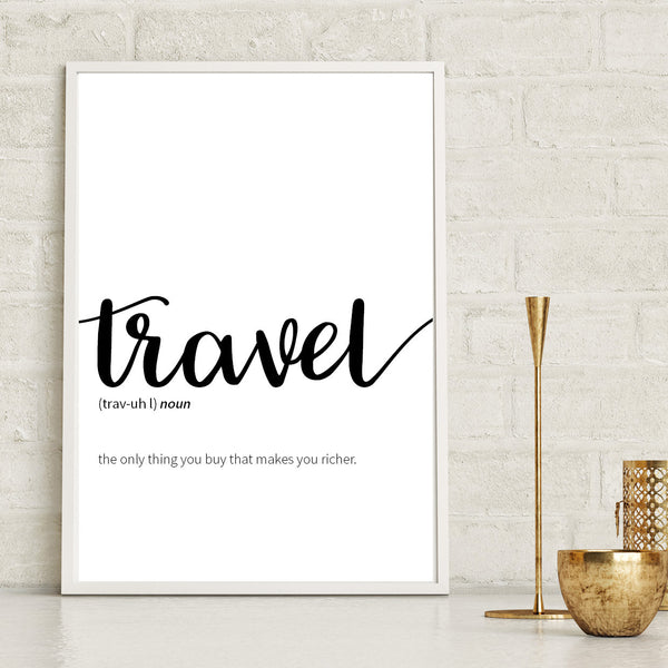 Travel Dictionary Definition Print - Couture Moments