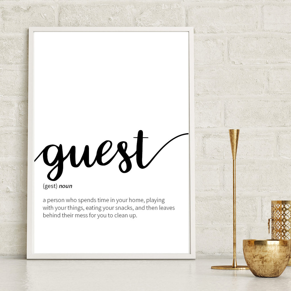 Guest Definition Print - Couture Moments