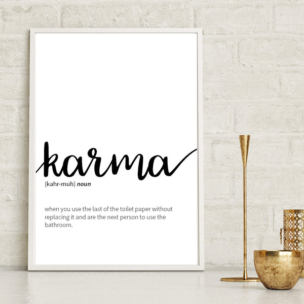 Karma Definition Print - Couture Moments