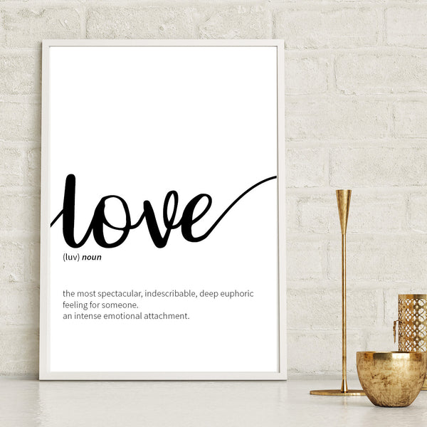 Love Dictionary Definition Print