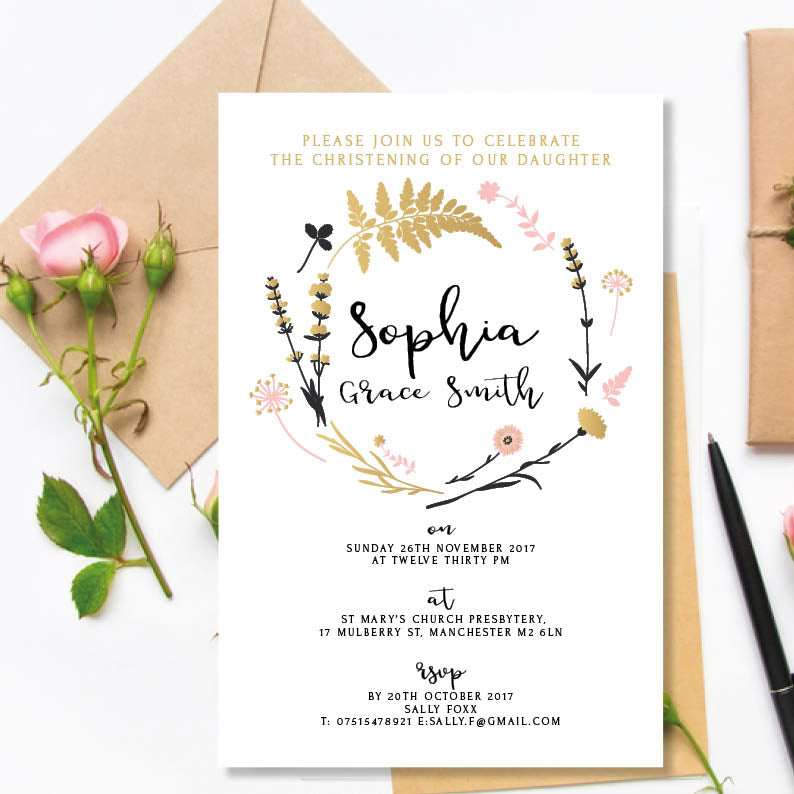 Christening or Baptism Invitations - Daughter - Couture Moments