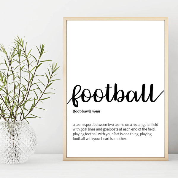 Football Definition Print, Football Print, Football Poster, Football Gift, Mens Gift, Football