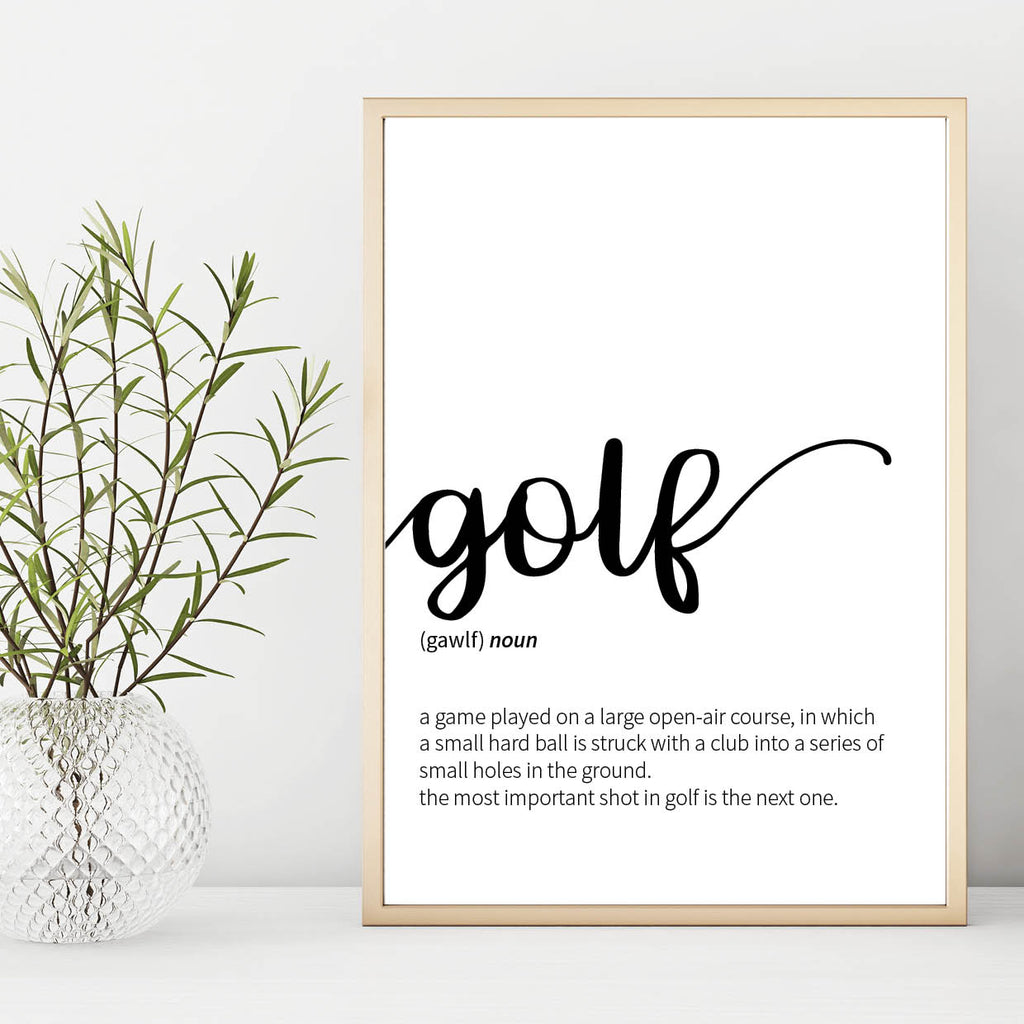 Golf Definition Print - Couture Moments
