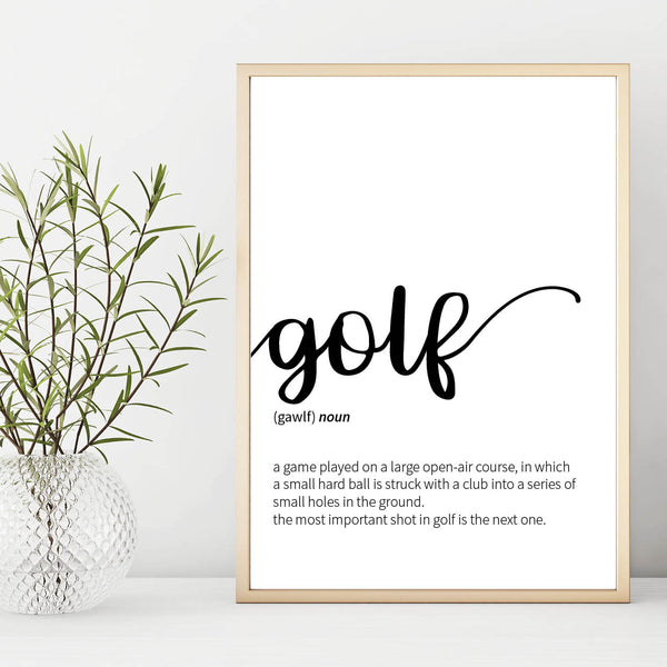 Golf Definition Print, Golf Print, Golf Poster, Golf Gift, Mens Gift, Golf