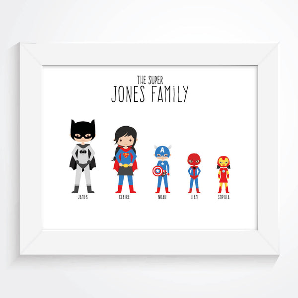 Personalised Family Superhero Print - Couture Moments