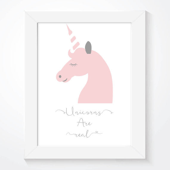 Pink Unicorns Are Real Girls Print