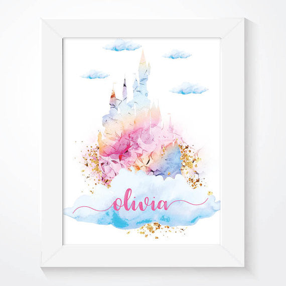 Personalised Princess Castle Poster Print