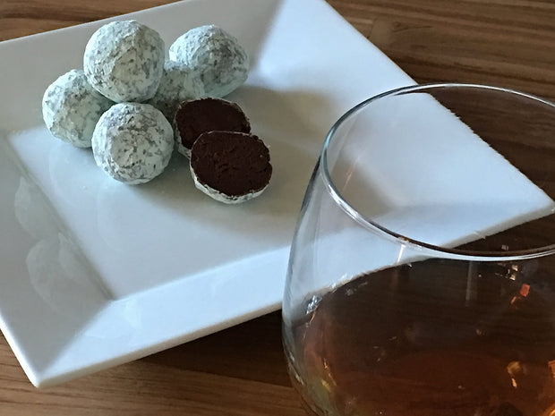 Gourmet Whiskey Dark Chocolate Truffles