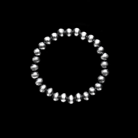 Navajo Pearl Stretchy Bracelet - 7mm bead