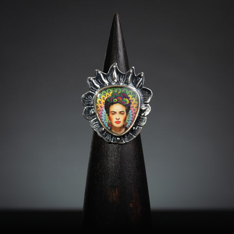 Frida Kahlo Sacred Heart Adjustable Ring