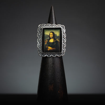 Mona Lisa Sterling Silver, Rectangle Ring