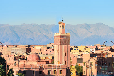 View of Atlas Mountains from Medina