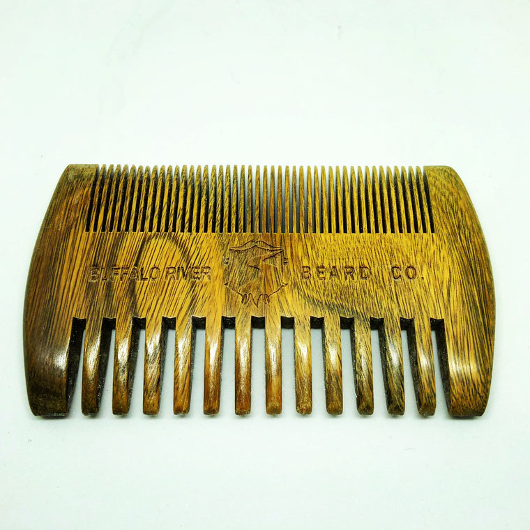 Premium Dual-Sided Sandalwood Beard Comb