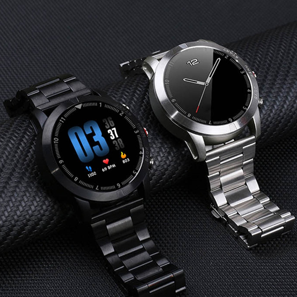 Business Smart Watch Men Heart Rate Monitor Sports Bluetooth Waterproof Fitness Smartwatch for Android Ios xiaomi huawei iphone - MARI MAR SHOP