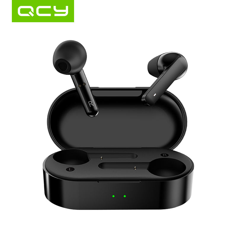 HOT SALE QCY T3 TWS Touch Control Wireless Earphones with Dual Mic Bluetooth V5.0 Sports Headphones 3D Stereo Headset For All Phones (cs1) - MARI MAR SHOP