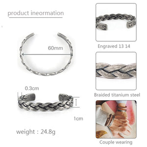 Men Bangles/Stainless Steel/Vintage/leather/fashion/Bangles Bracelets Twisted Braiding titanium Wires Cuff bangle Jewelry