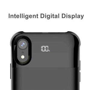 Smart Digital Display Charge Battery Cover For Iphone X XS XR XS Max Battery Case Powerbank Separate Wireless Charging