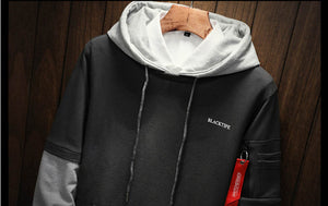 Men Hip Hop patchwork Long Sleeve Pullover Hoodies Sweatshirt  (tm1)
