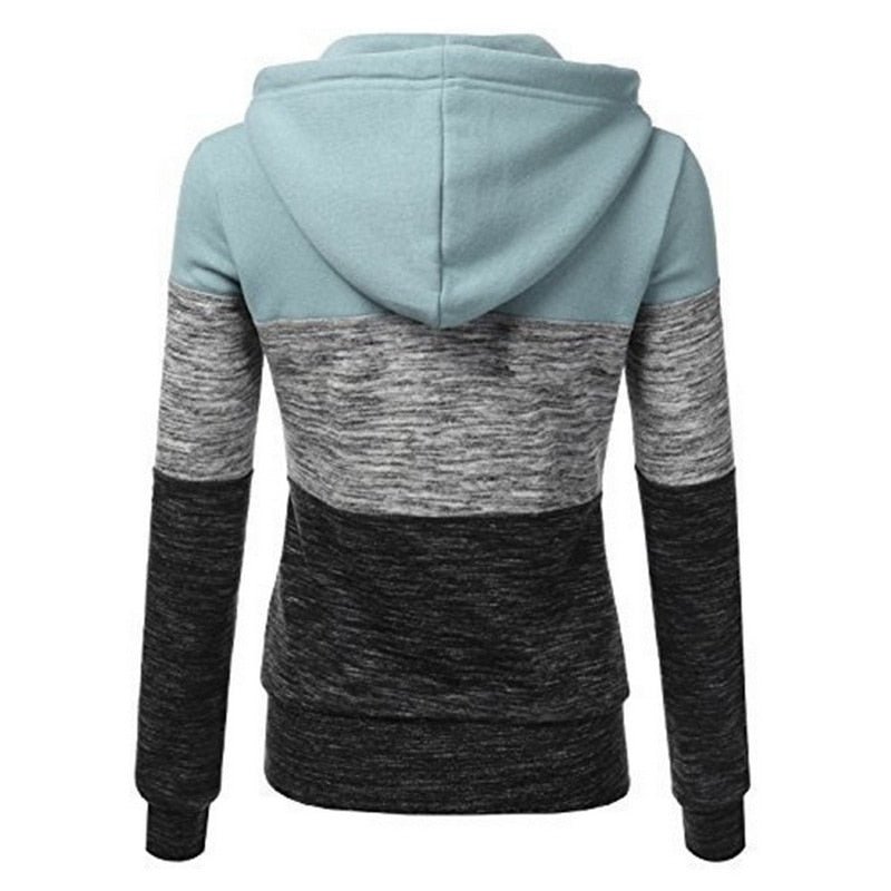 Woman Warm Hoodies Long Sleeves Drawstring Sweatshirt  (wo1)