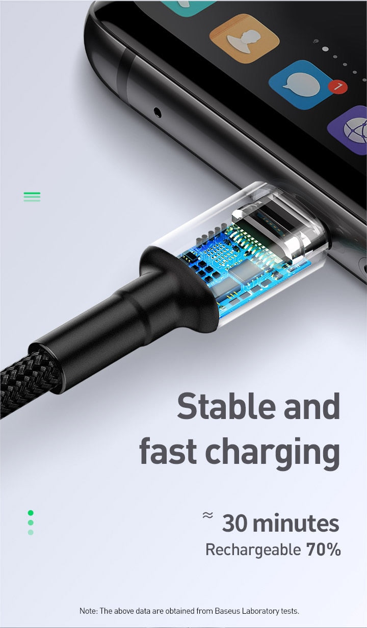 Baseus 40W Flash Charge USB Type C Cable 5A Fast Charging for USB-C Phone