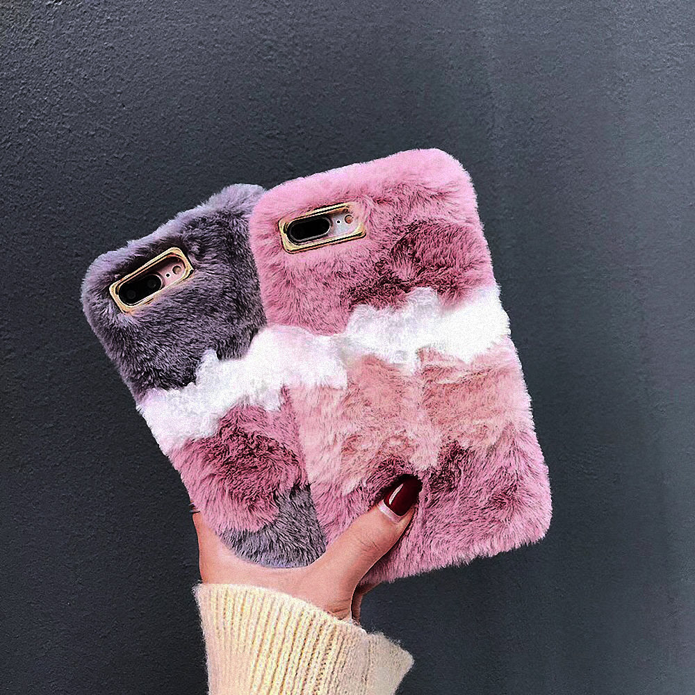 Cute Warm Furry Fluffy Case for Apple IPhone 11 Pro XR XS MAX  X 6 6S 7 8 Plus SE 5S 5 Soft TPU - MARI MAR SHOP