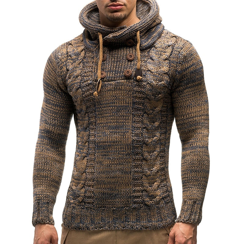 Men Autumn Vintage Cardigan Sweater Coa Button Pullovers (tm1)