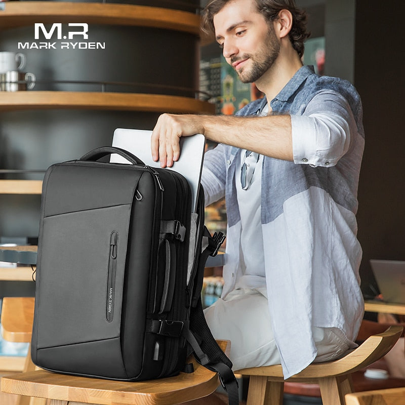 Mark Ryden 17 inch Laptop Backpack USB Recharging Multi-layer Space Anti-thief Bag - MARI MAR SHOP