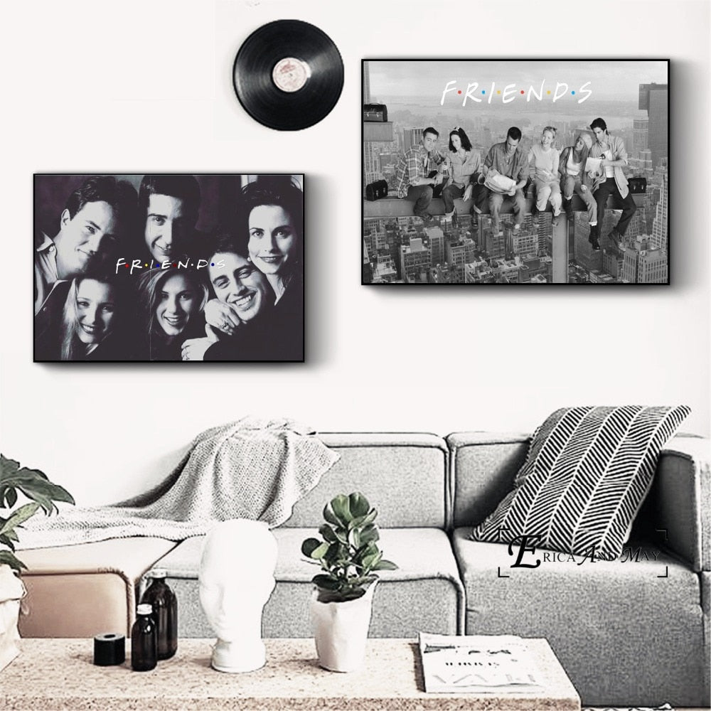 Friends TV Series Movie Art Canvas Art Print Painting Modern Wall Picture Posters No Frame Cuadros HOT SALE