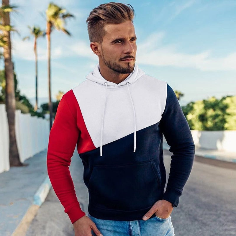 Men Fitness Hooded Hoodies Sweatshirts Workout Pullover (tm1) - MARI MAR SHOP